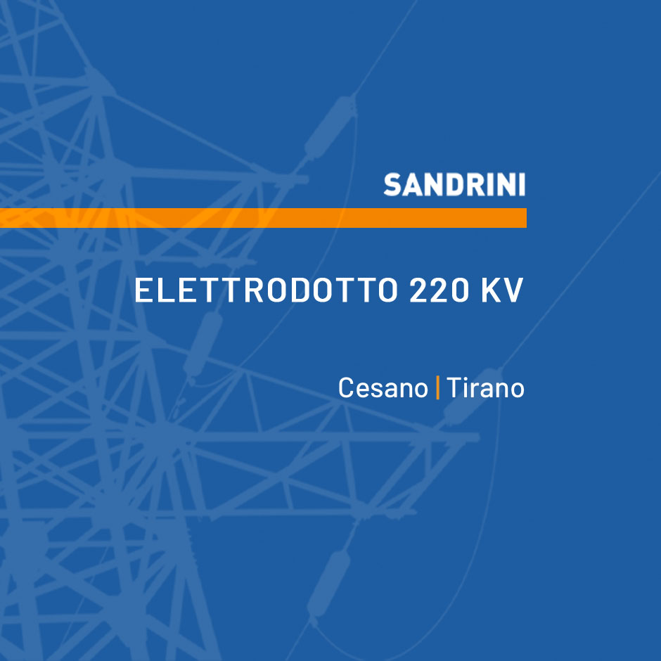 ELETTRODOTTO 220 kV T.226 ST CESANO - ST TIRANO