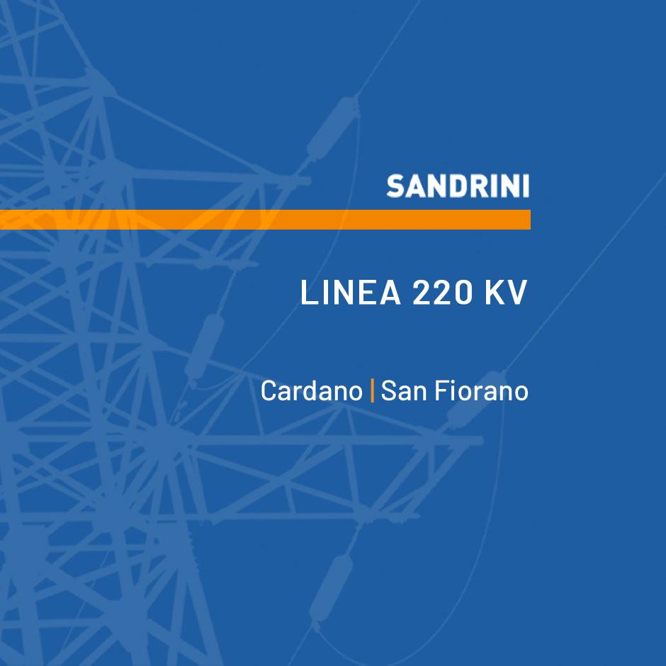 Linea 220 kV T.22249C1 CARDANO - S. FIORANO CD
